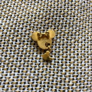 Real Gold Minnie Mouse Charm